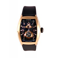 CVSTOS CHALLENGE TWIN TIME 18 K ROSE GOLD BLACK MOVEMENT