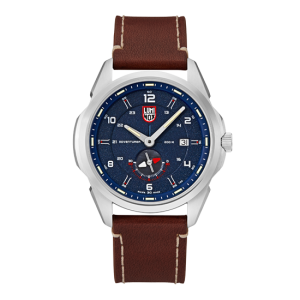 ATACAMA ADVENTURER 1760 SERIES BLUE DIAL LEATHER STRAP